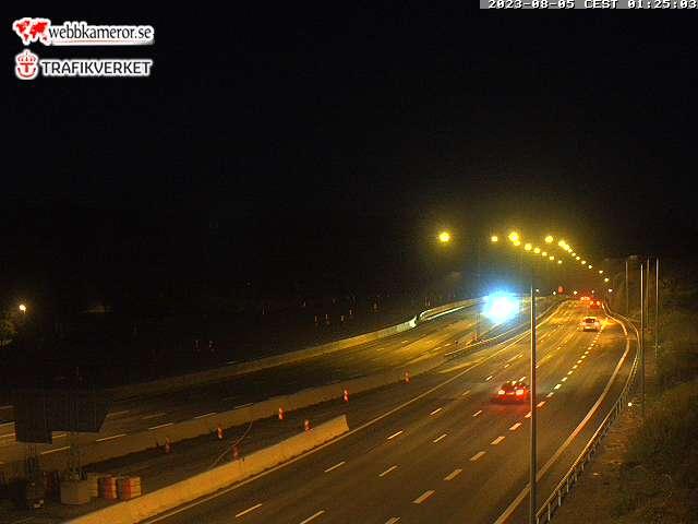 Trafikkamera - Södertäljevägen E4/Kungens kurva, Förbifart Stockholm